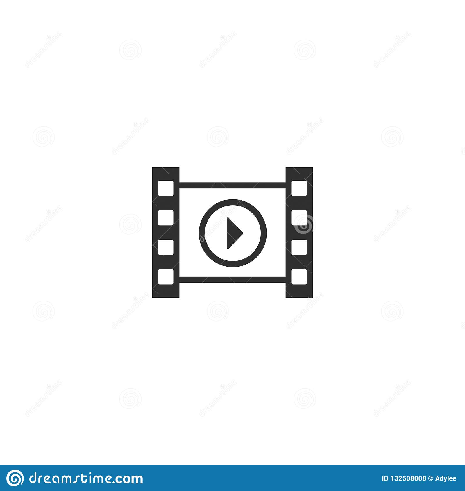 movie film icon outline isolated 8
