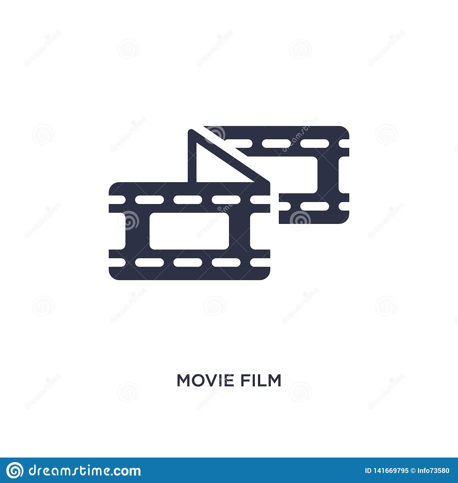 movie film icon on white background. Simple element illustration from cinema concept