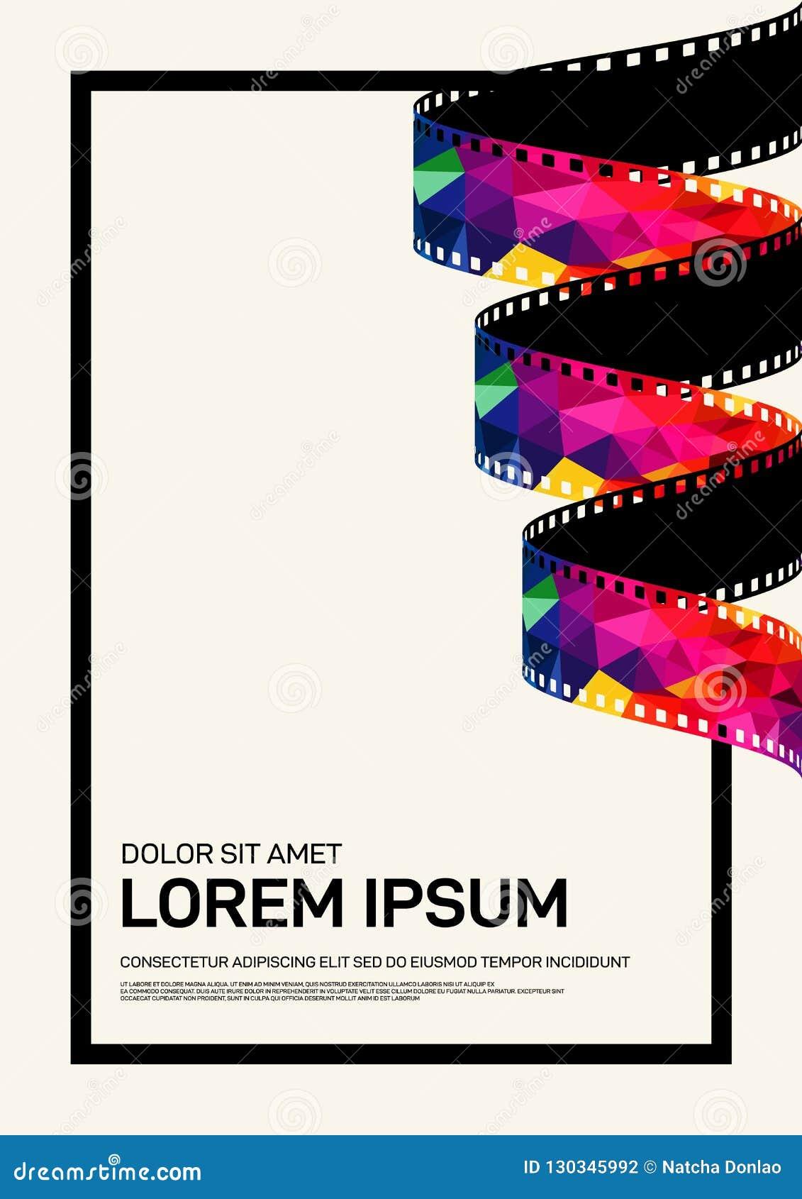 movie and film poster design template background modern vintage