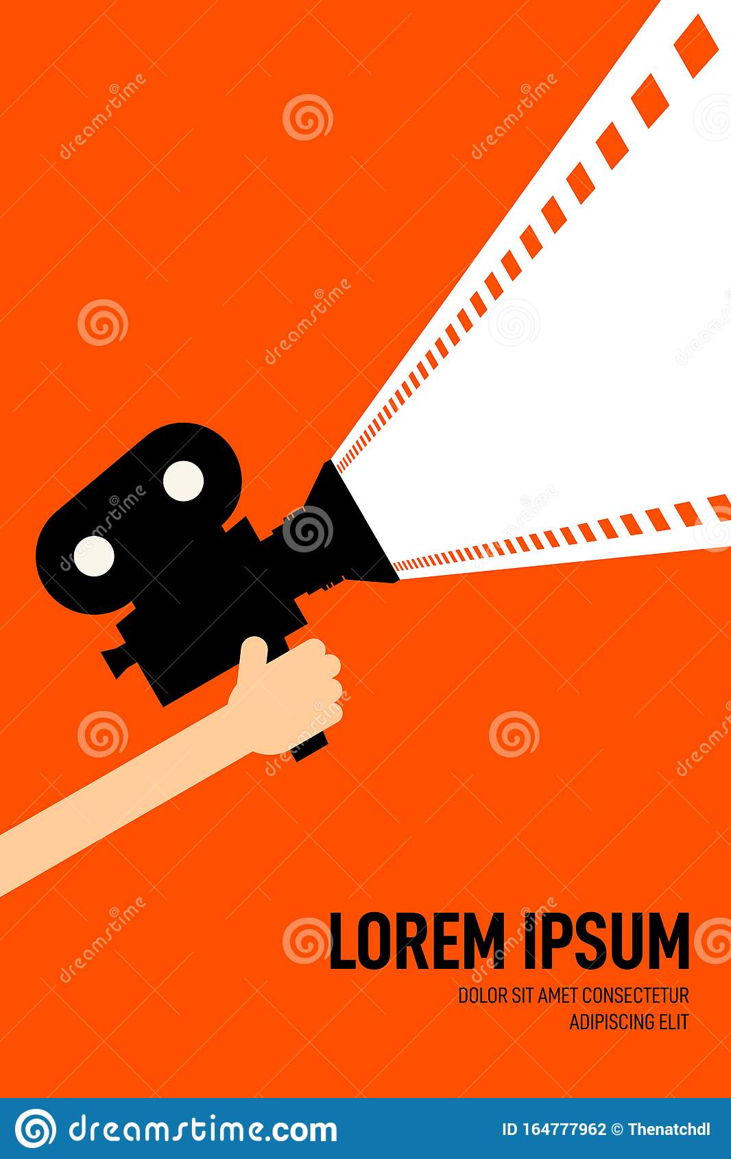 Movie And Film Poster Design Template Background Vintage Retro Style Stock Illustration Illustration Of Illustration Banner 164777962
