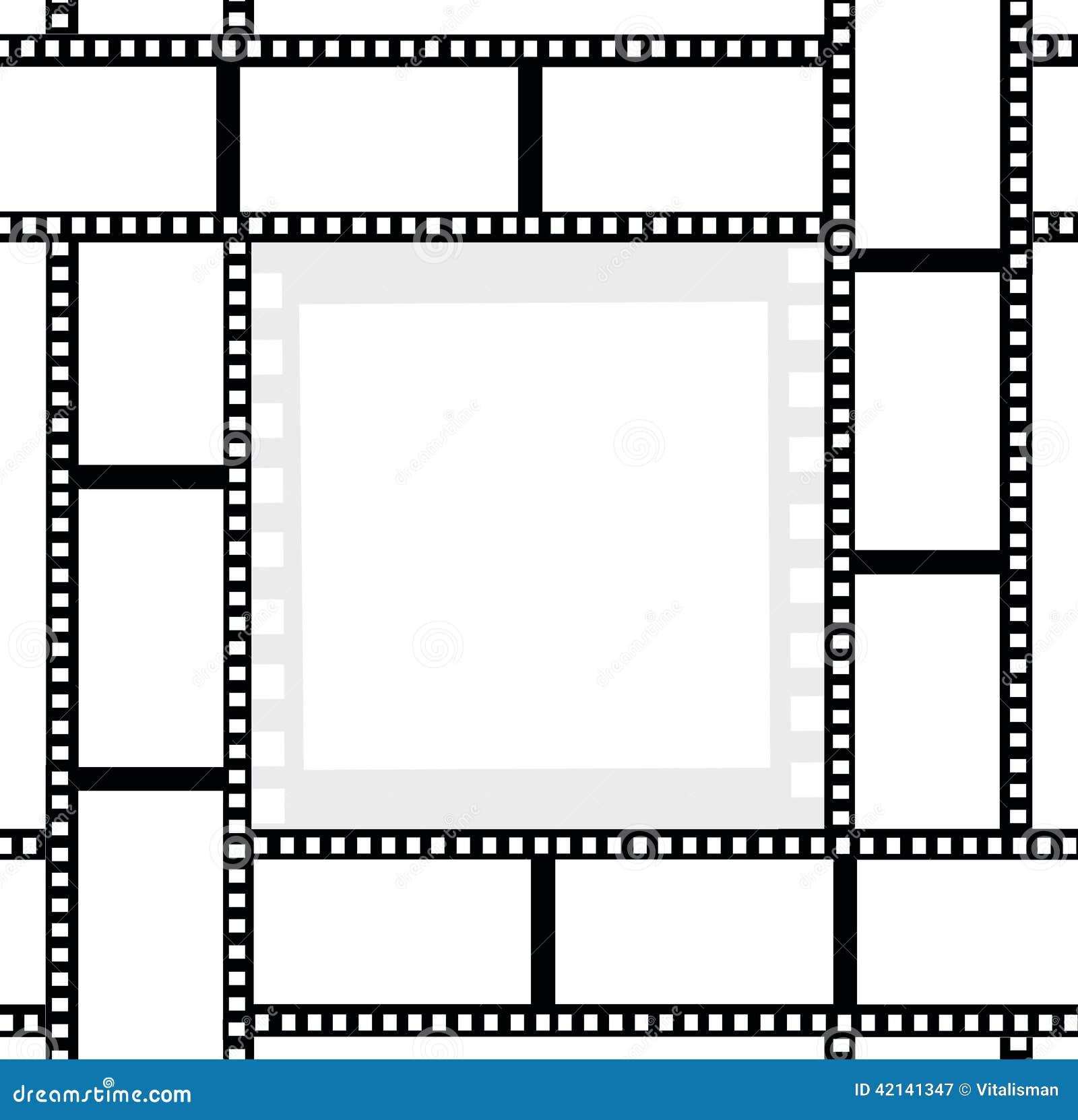 Movie Film Ribbons Photo Frame Stock Illustration - Illustration of ...
