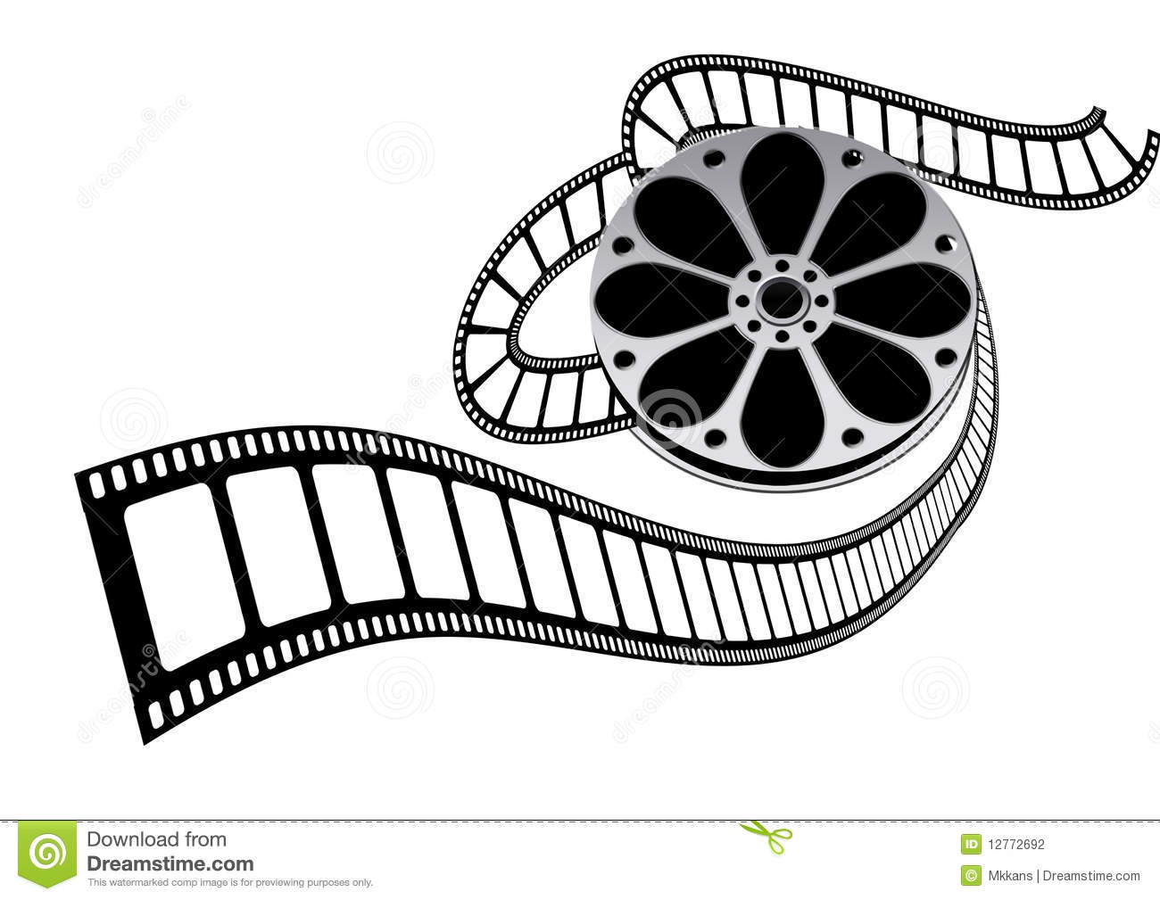 movie film roll stock illustration illustration of colour