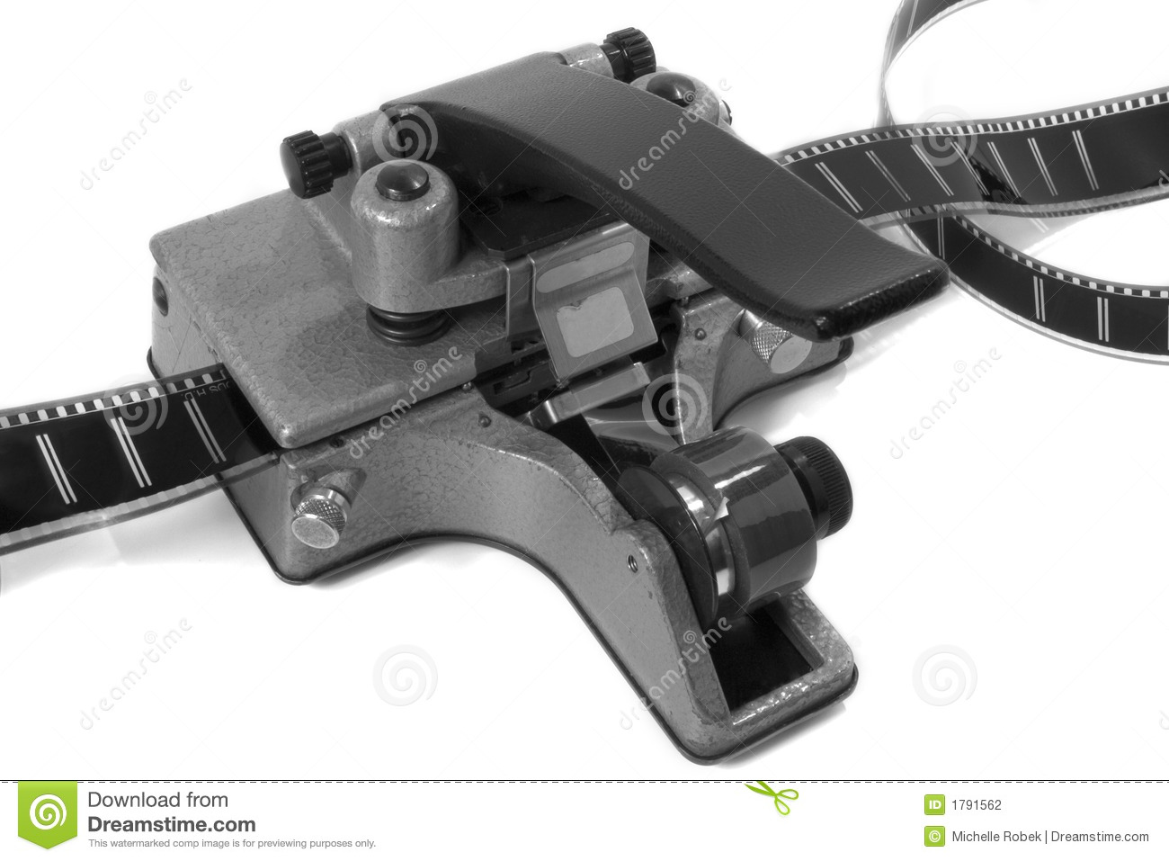 Movie Film Splicer 1 Black And White Stock Photography Image 1791562