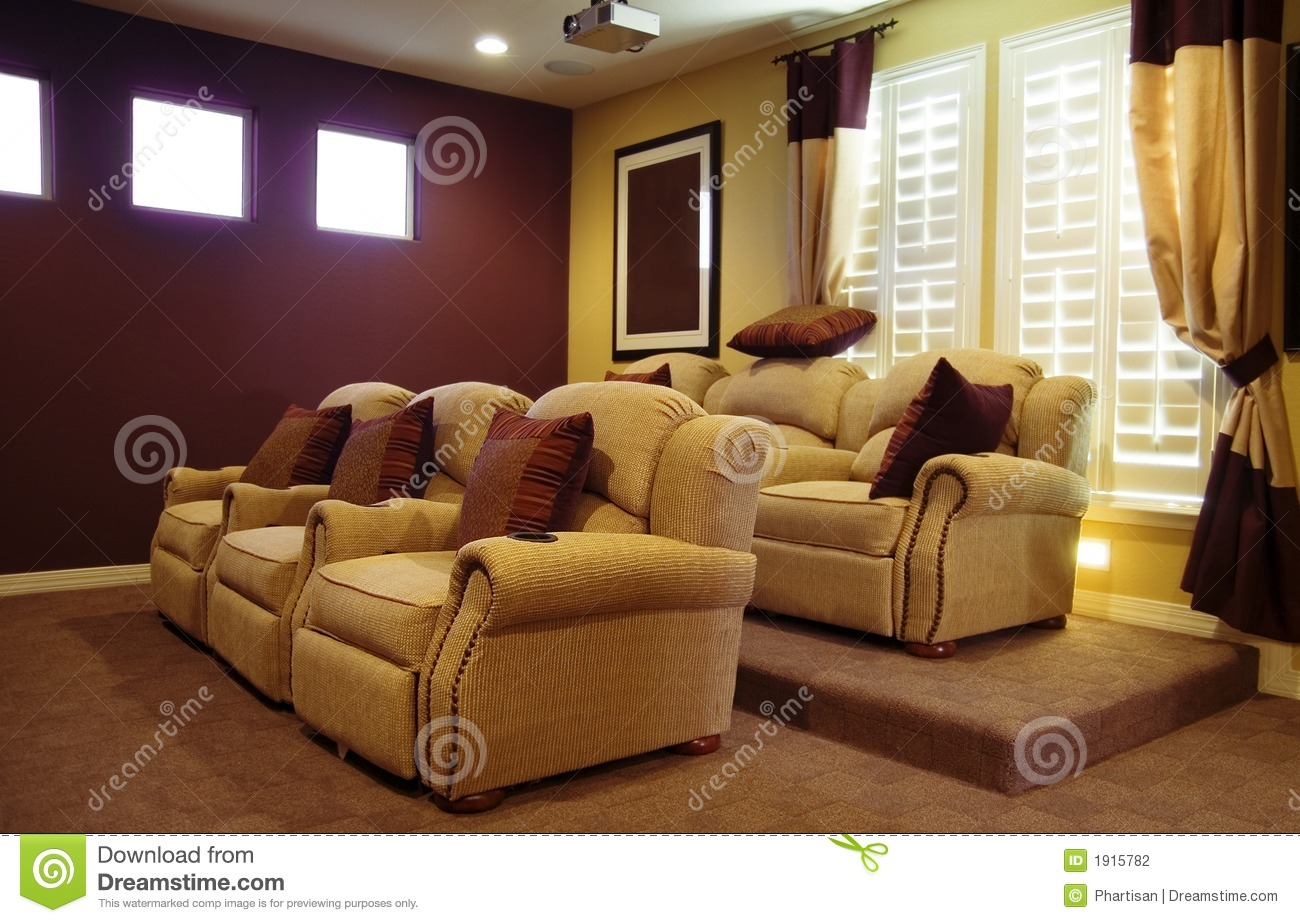 movie home room design stock photography image 1915782