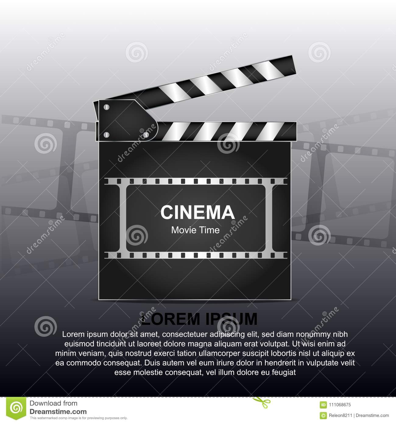 movie poster or flyer template stock illustration illustration of