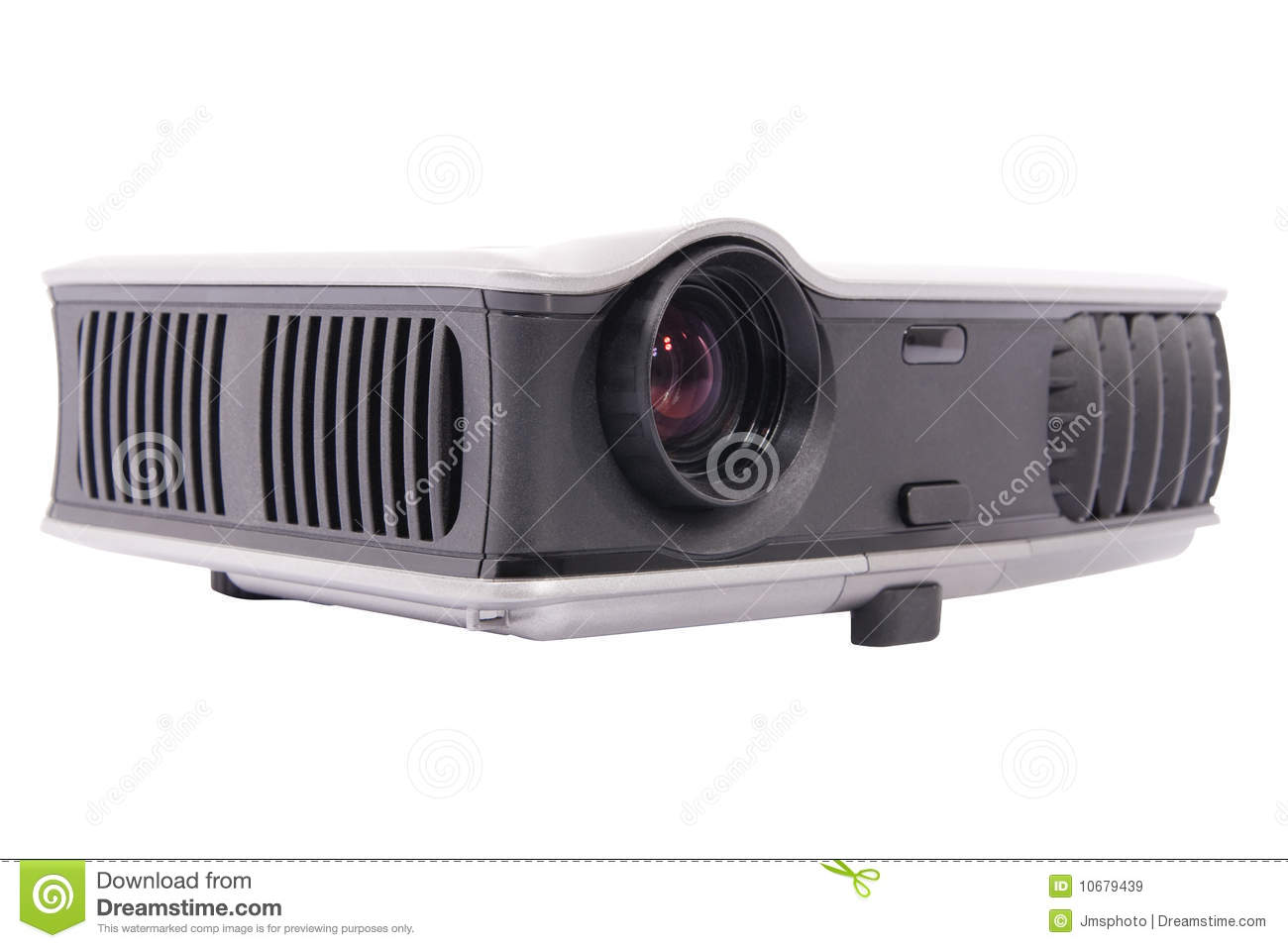 Modern movie projector isolated on white background with clipping path ...
