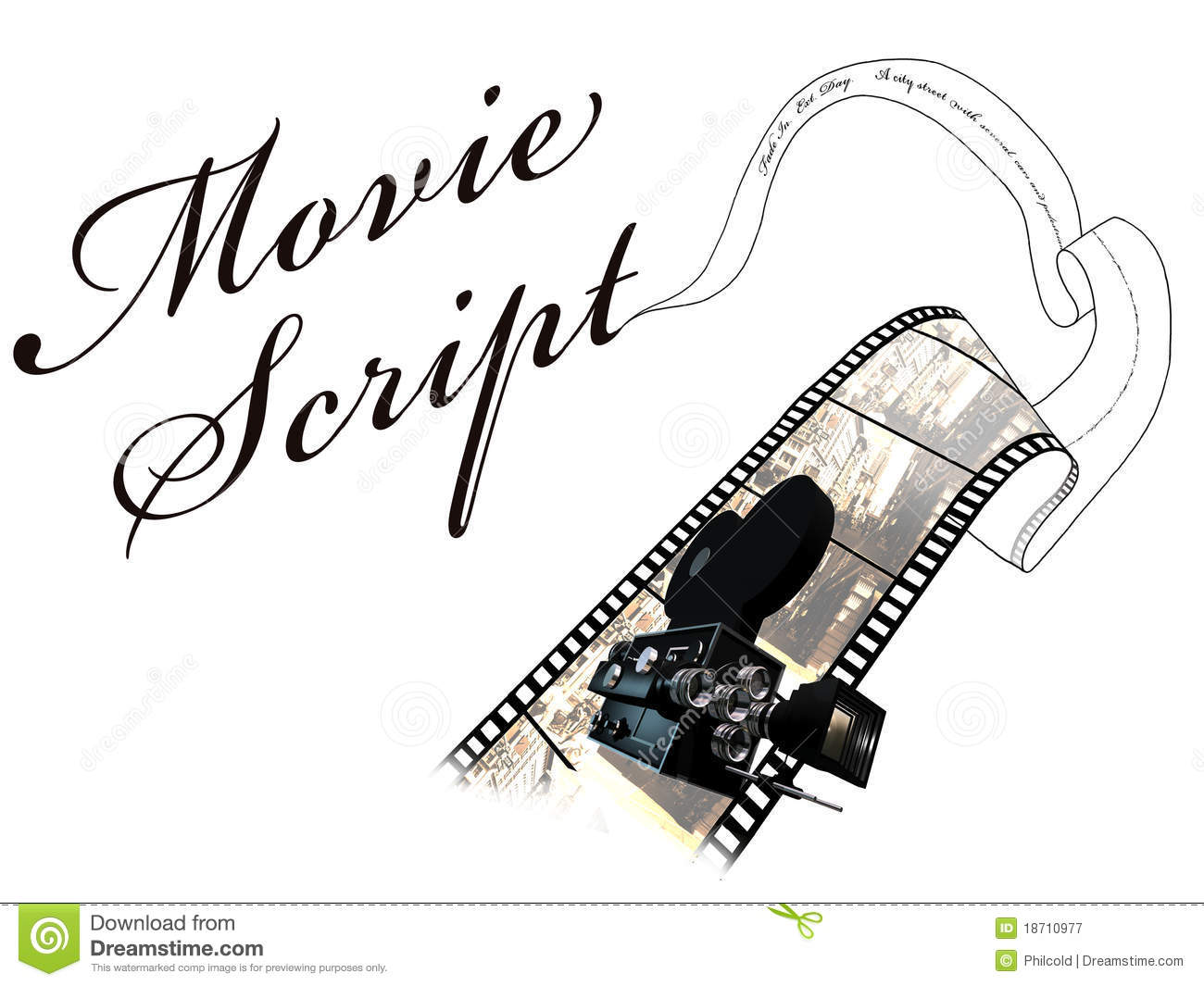 ... how a text of a movie script becomes a sequence in a movie text movie