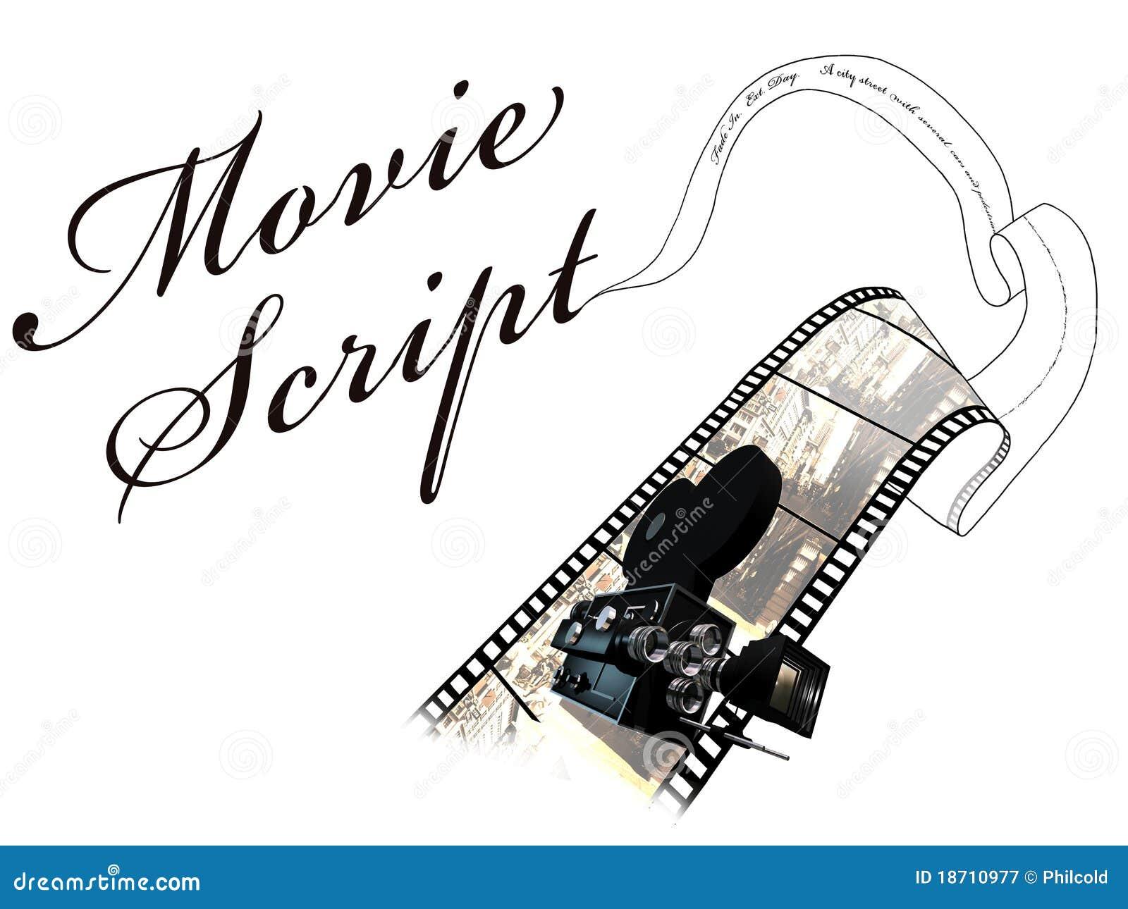Movie script royalty free stock photography image 18710977 Script art