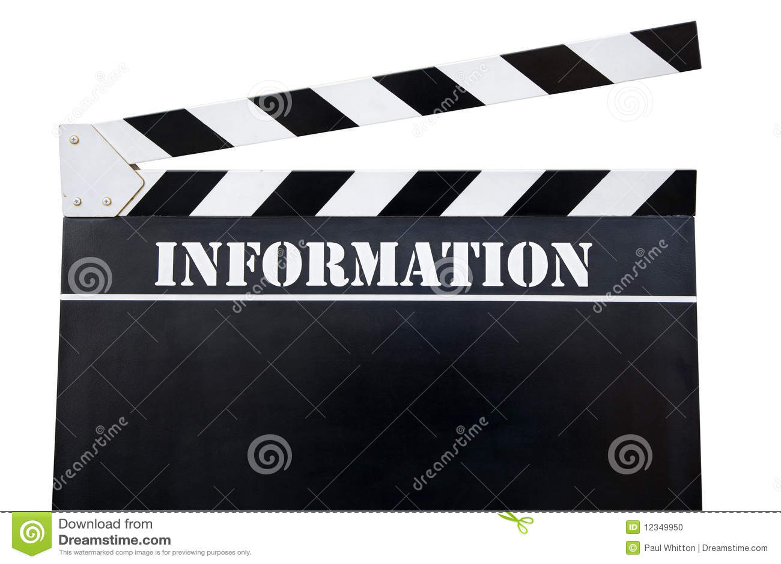Movie Slate Stock Photo - Image: 12349950