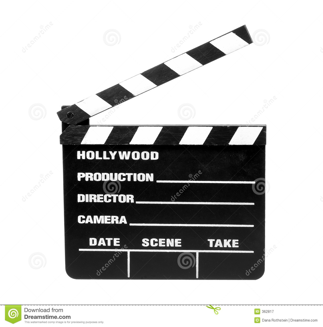 Movie Slate - Clipping Path Royalty Free Stock Photography ...