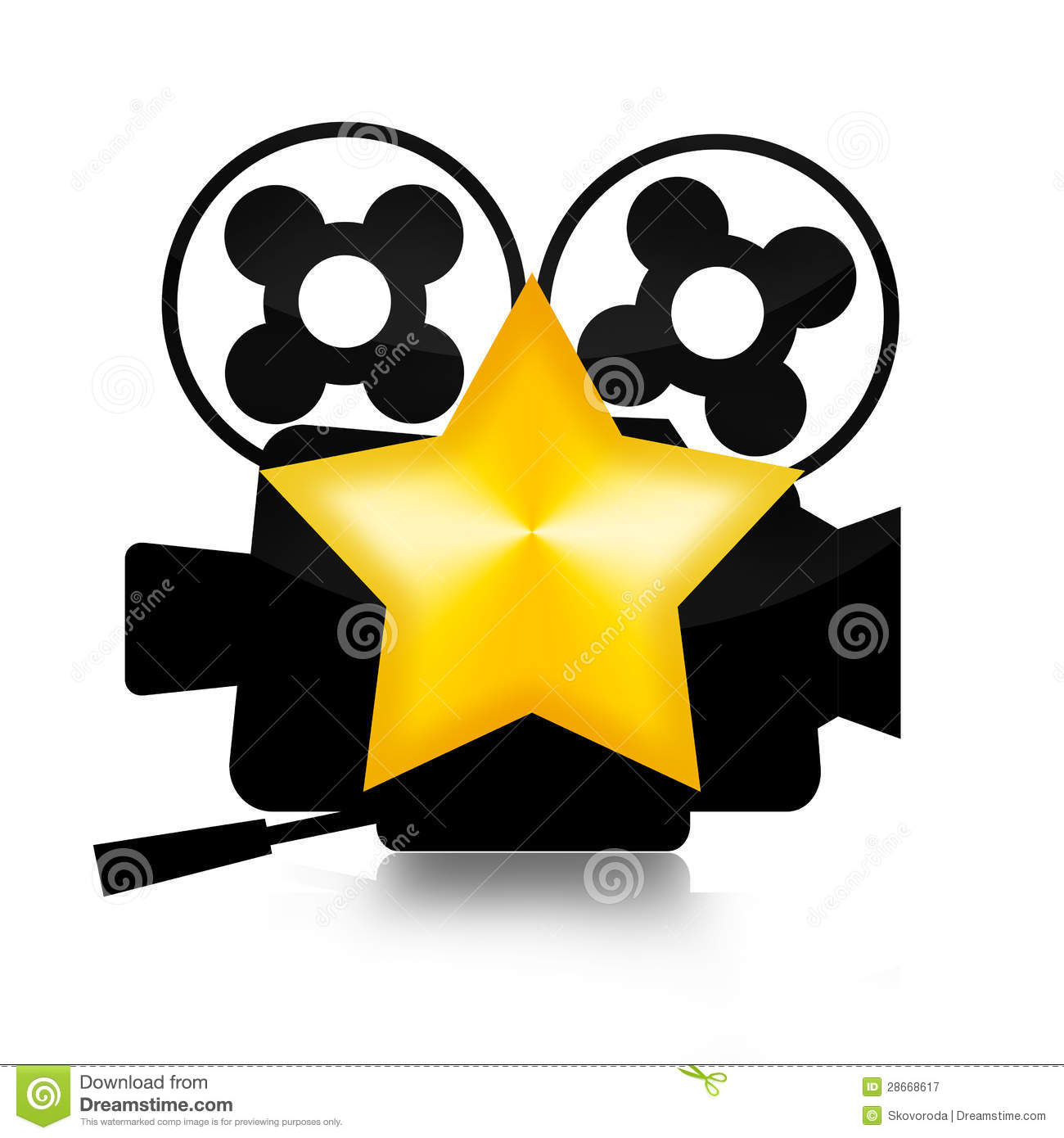movie star royalty free stock photography image 28668617 hollywood stars clip art borders hollywood star clipart free