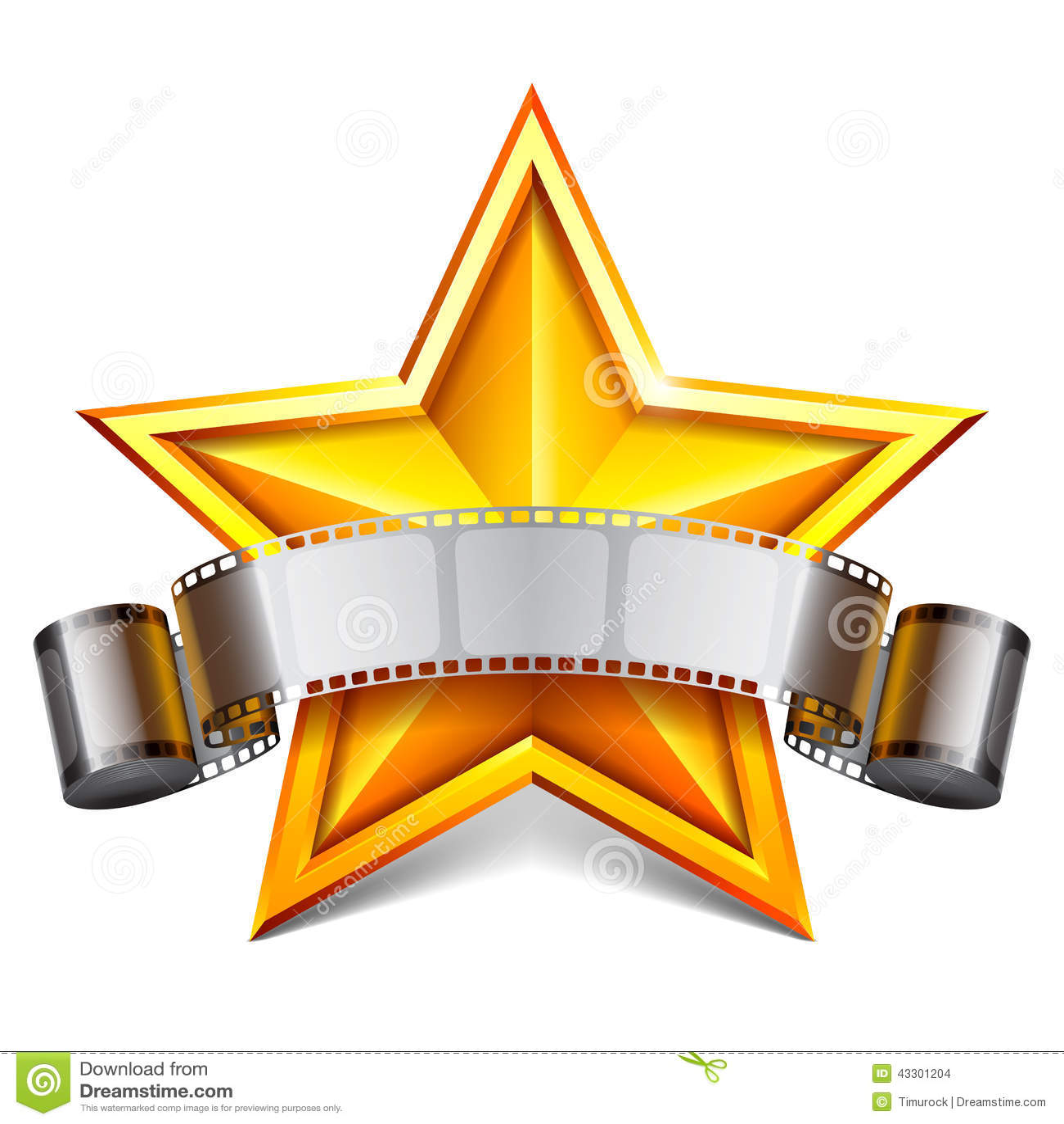 Movie star stock vector illustration of element for Miroir loge de star