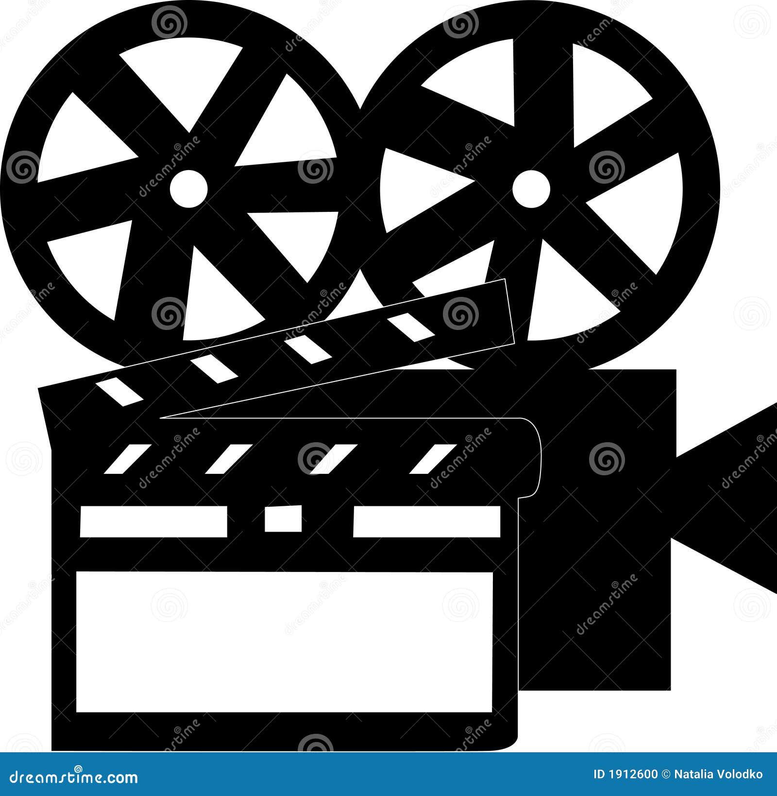 Movie stuff stock illustration. Illustration of clip ...