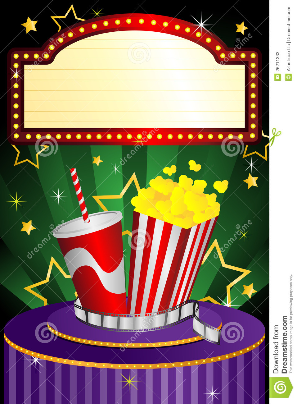 Movie Theater Background Stock Vector Illustration Of Banner 26211333