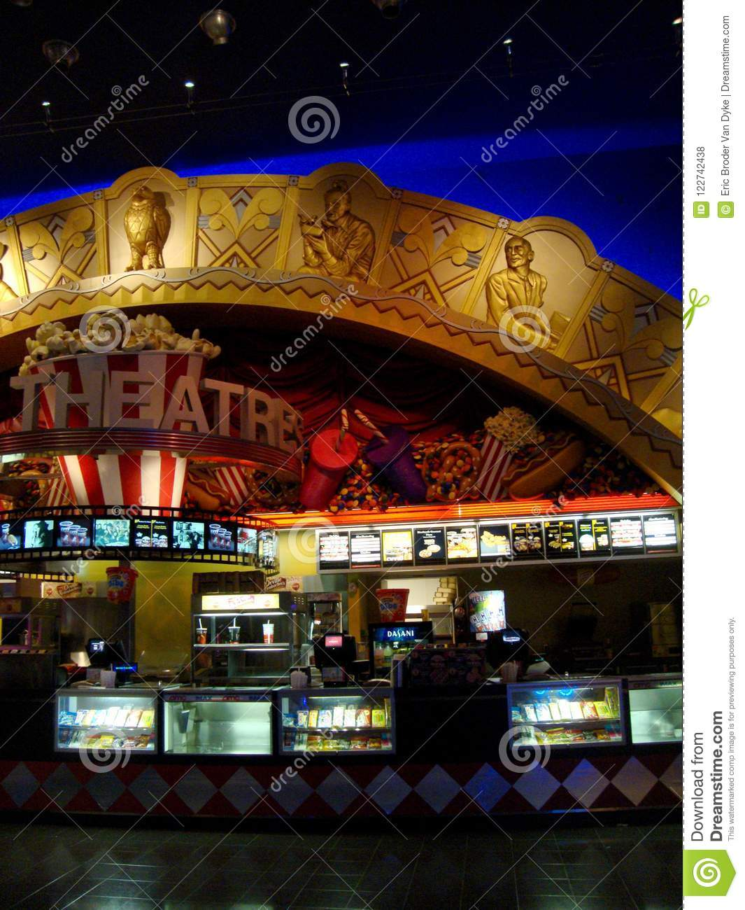 Concession Stand For Theater Room With Images: Movie Theater Concession Stand Editorial Stock Photo