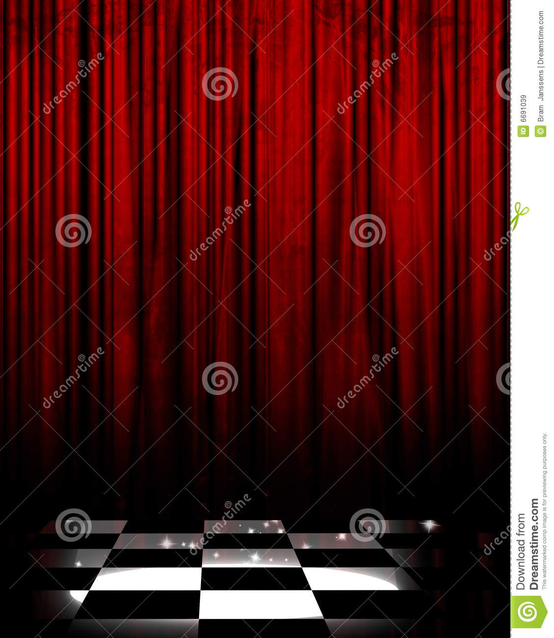 Movie or theater curtain