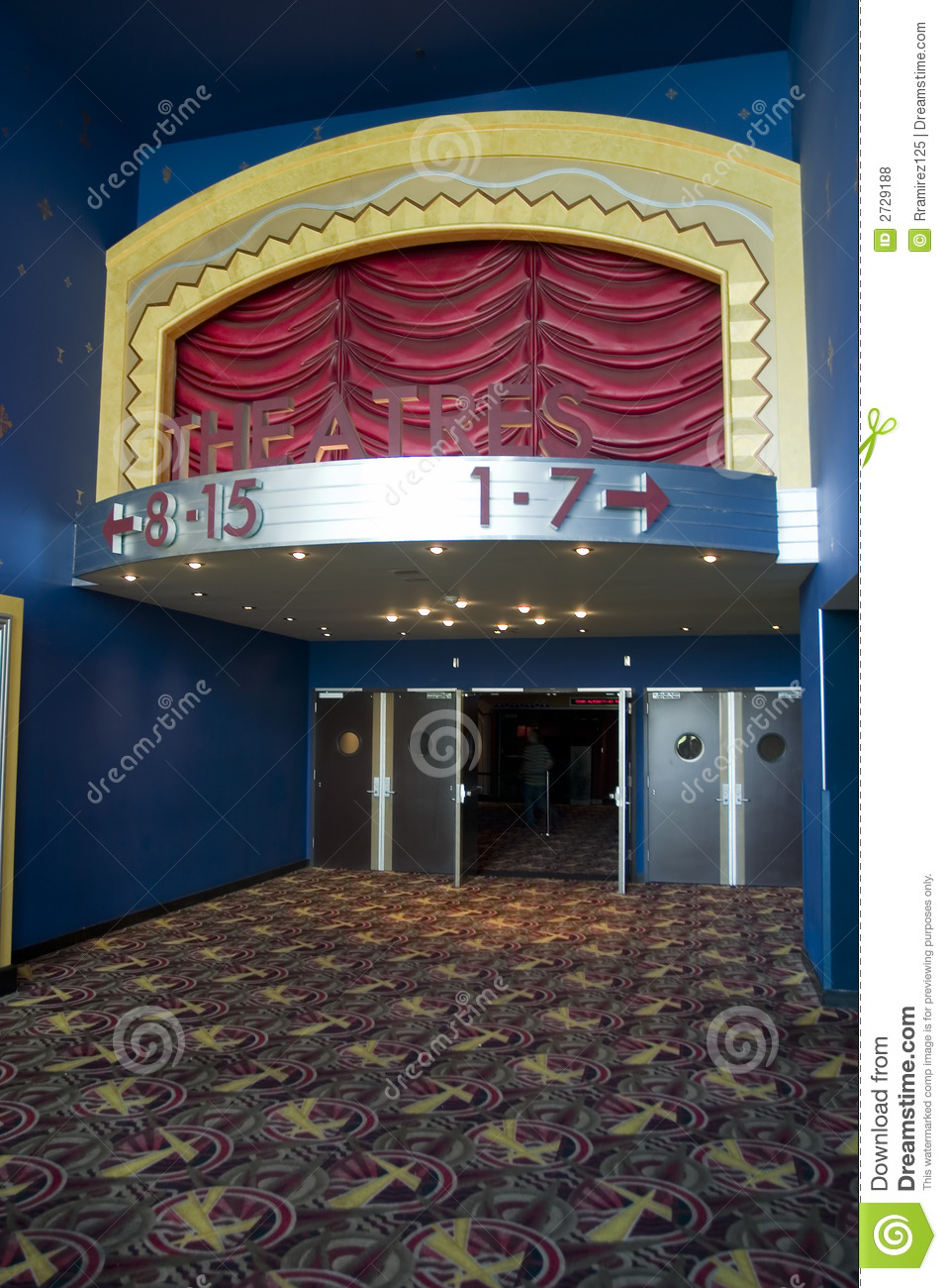 Movie Theater Entrance Royalty Free Stock Photos Image 2729188
