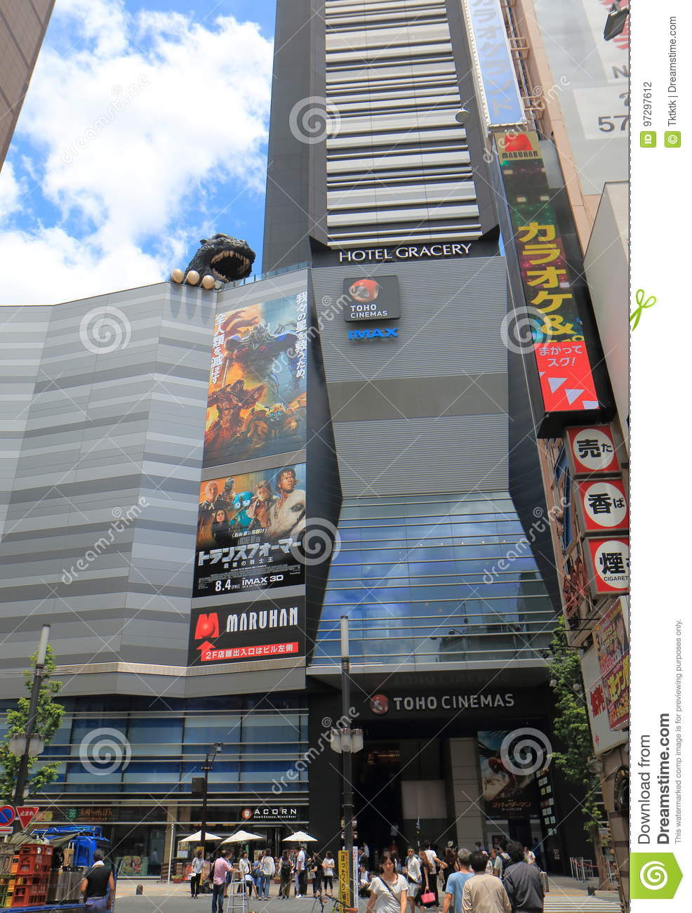 Movie Theatre Cinema Shinjuku Tokyo Japan Editorial Photography Image Of Statue Street 97297612
