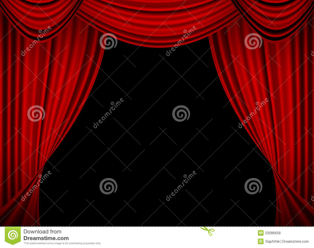 Movie Or Theatre Curtain Royalty Free Stock Photos - Image: 23086658