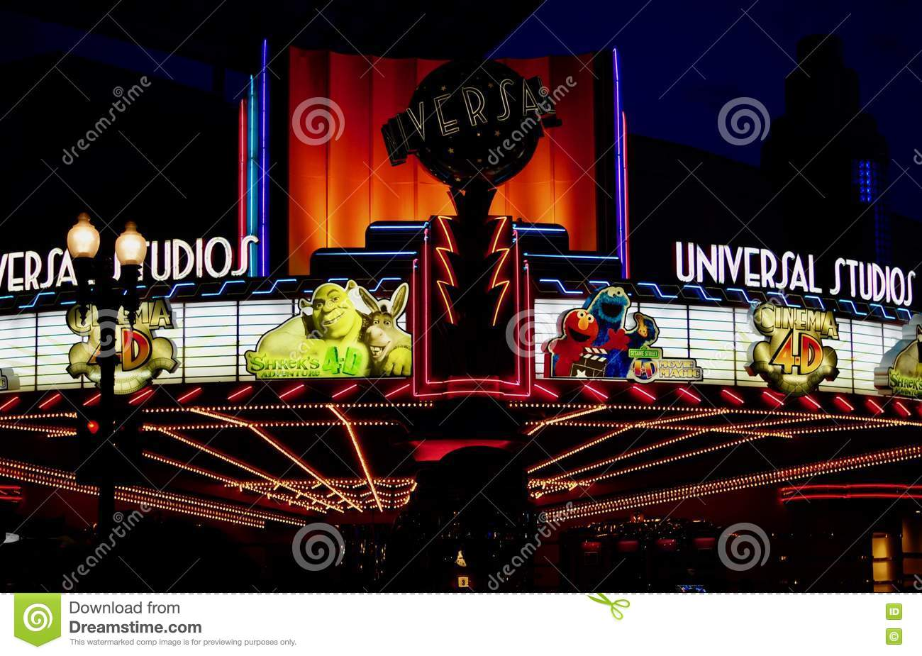 Movie Theatre Night View Editorial Stock Image Image Of Osaka 80178824