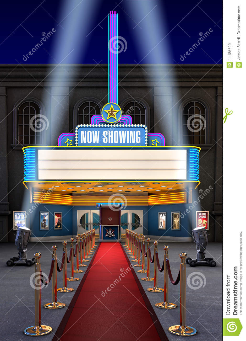 Movie Theatre Amp Ticket Box Royalty Free Stock Images