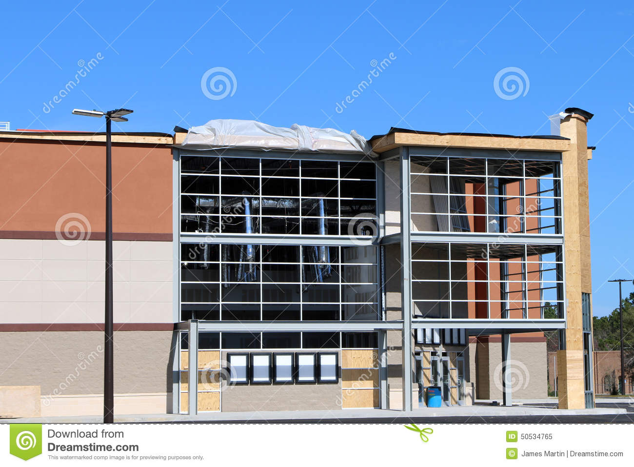 movie theatre under construction stock photo image 50534765