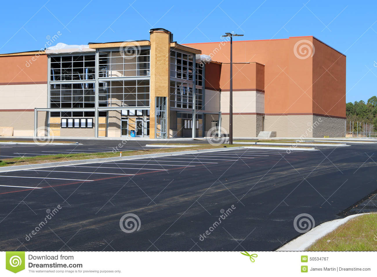 movie theatre under construction stock photo image 50534767