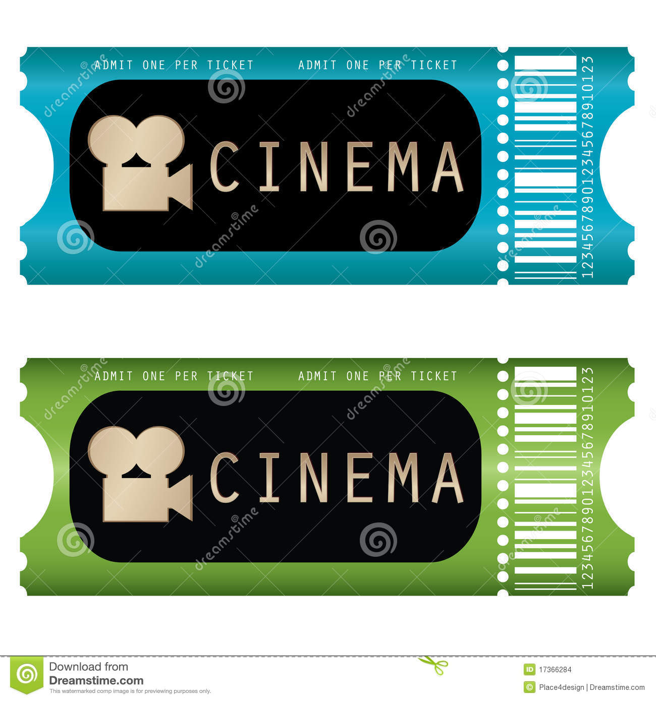 Movie Ticket Stock Images - Image: 17366284