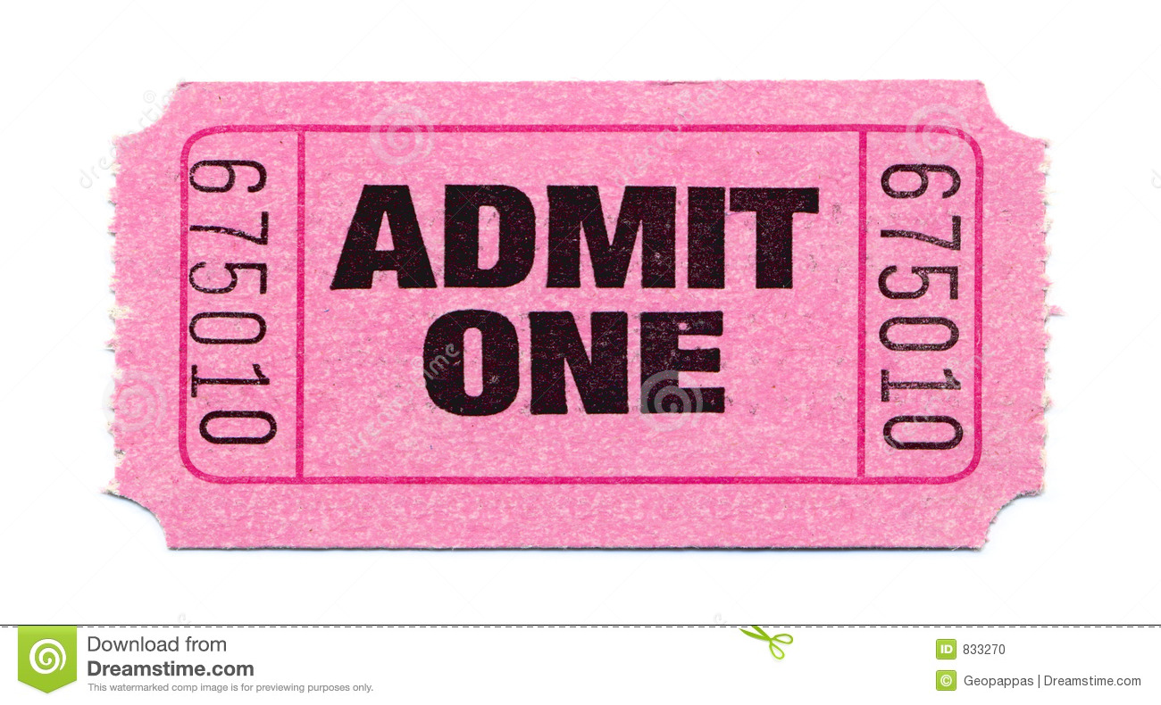 Movie-Ticket Stock Photo - Image: 833270