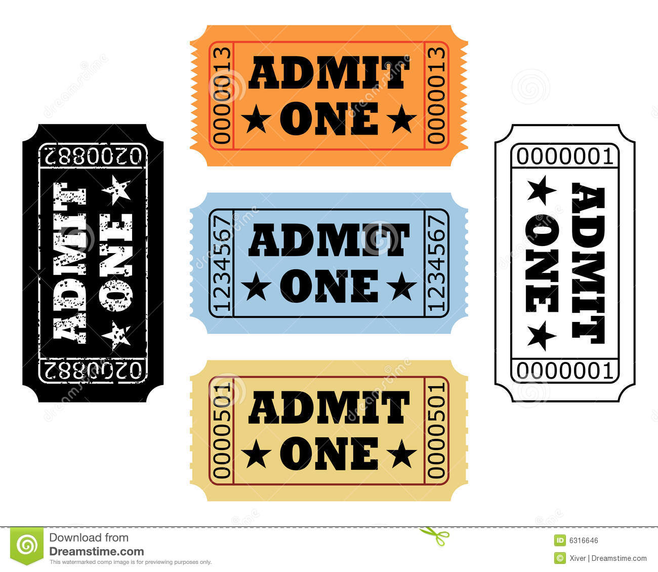 Movie Tickets Royalty Free Stock Image - Image: 6316646
