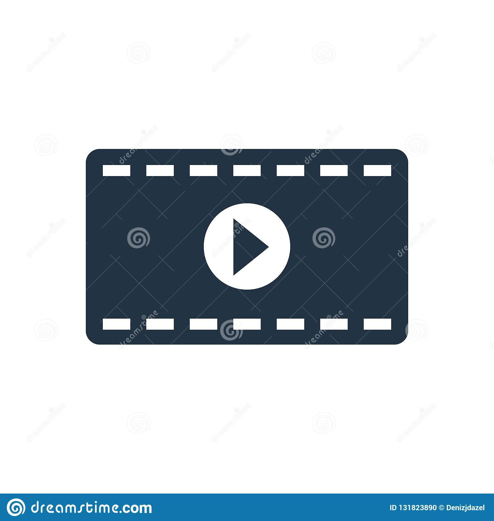 movie vector icon isolated on white background movie logo concept for your design stock vector illustration of clip strip 131823890 dreamstime com