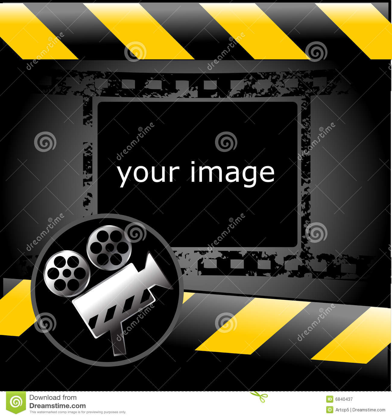 movie wallpaper stock vector. illustration of isolated - 6840437