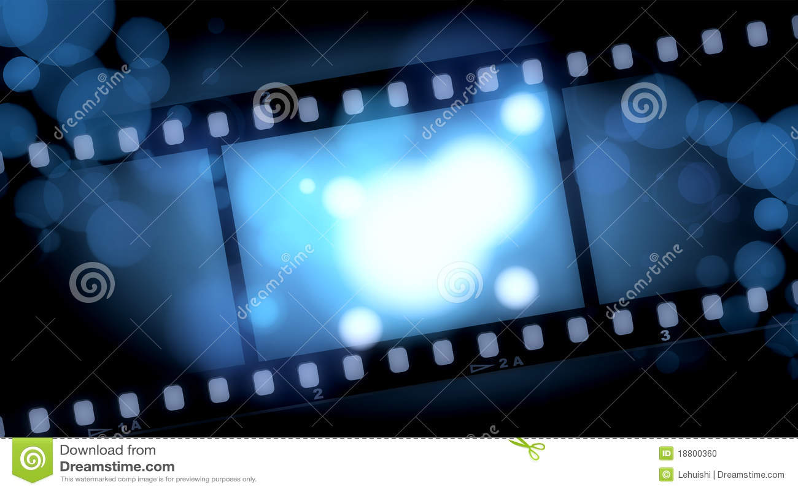 Movies Film Blue Light Background Stock Illustration Illustration Of Corona Black 18800360