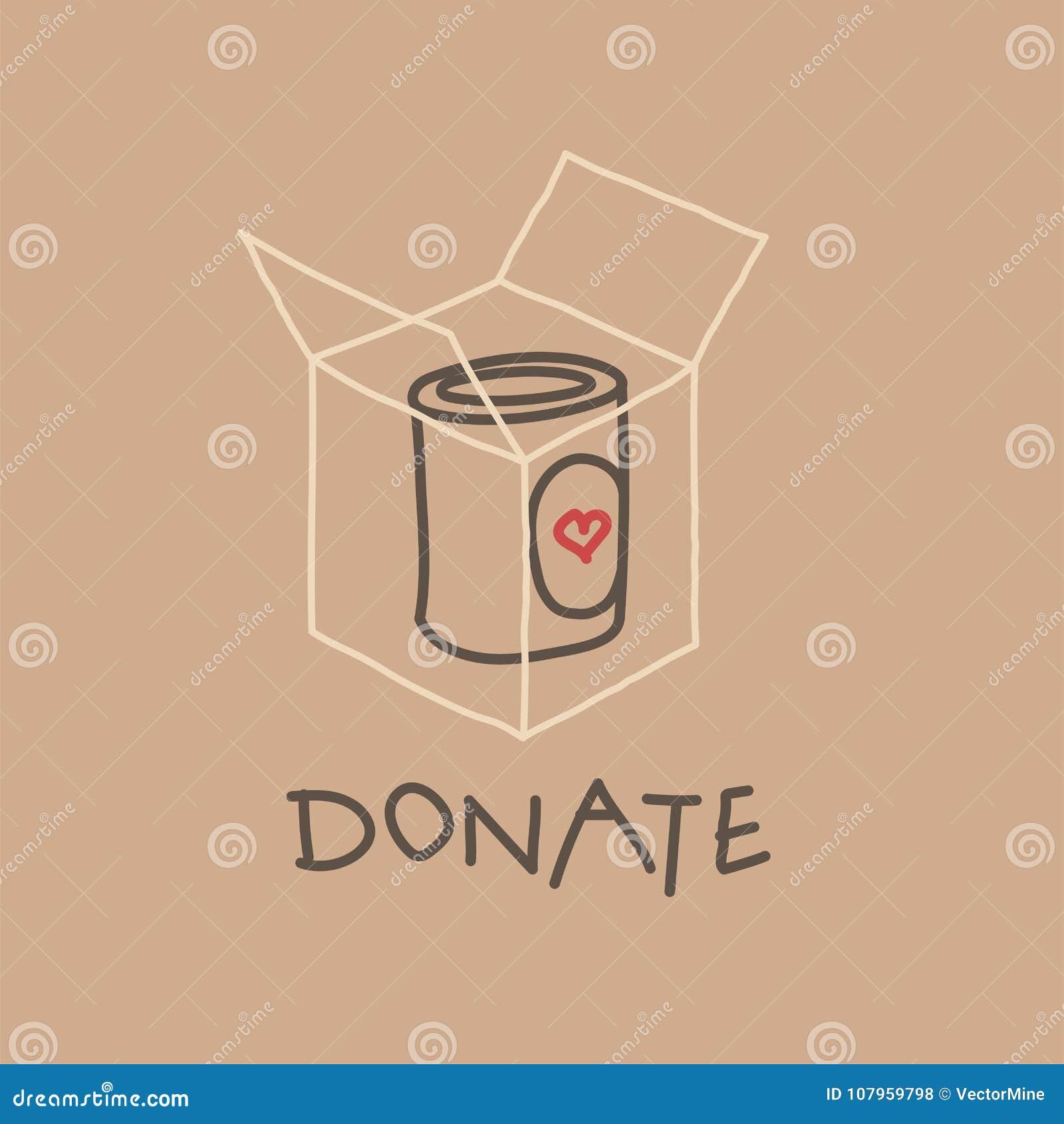 Movimento da caridade da movimentação do alimento, ilustração do vetor