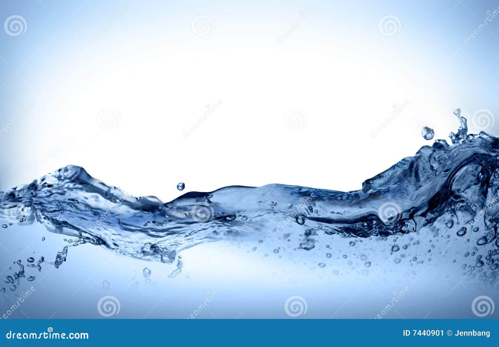 Movimento dinâmico da água