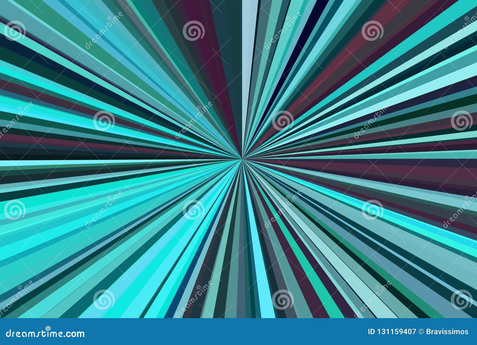 Movimento do crepúsculo da luz do carro no tom dramático O sumário irradia o fundo Teste padrão colorido do feixe das listras Mod