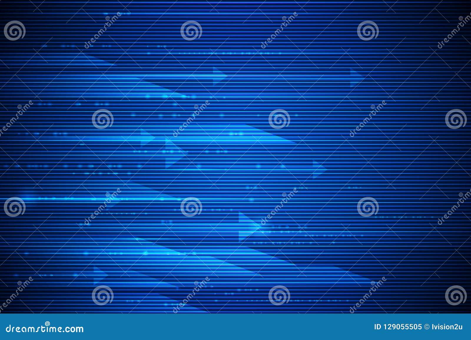 Movimento e mosso ad alta velocità sopra fondo blu scuro Futuristico, ciao concetto di tecnologia di tecnologia