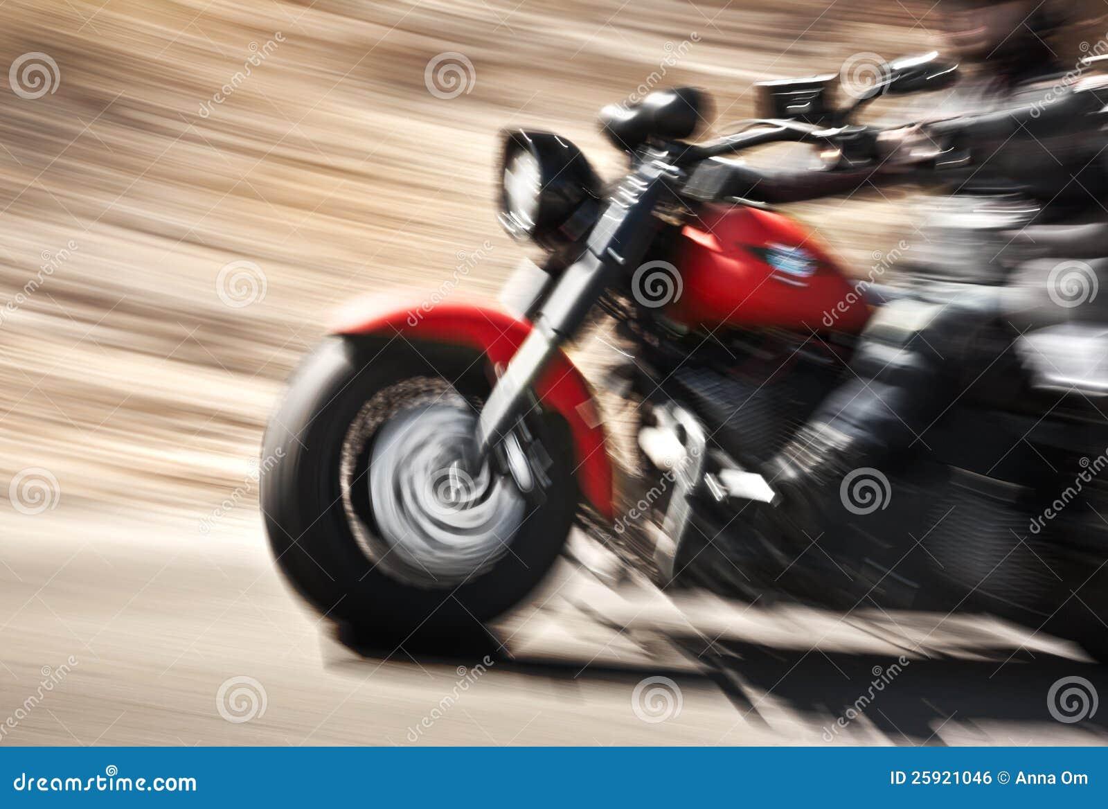 Movimento lento astratto, motocicletta di guida del motociclista