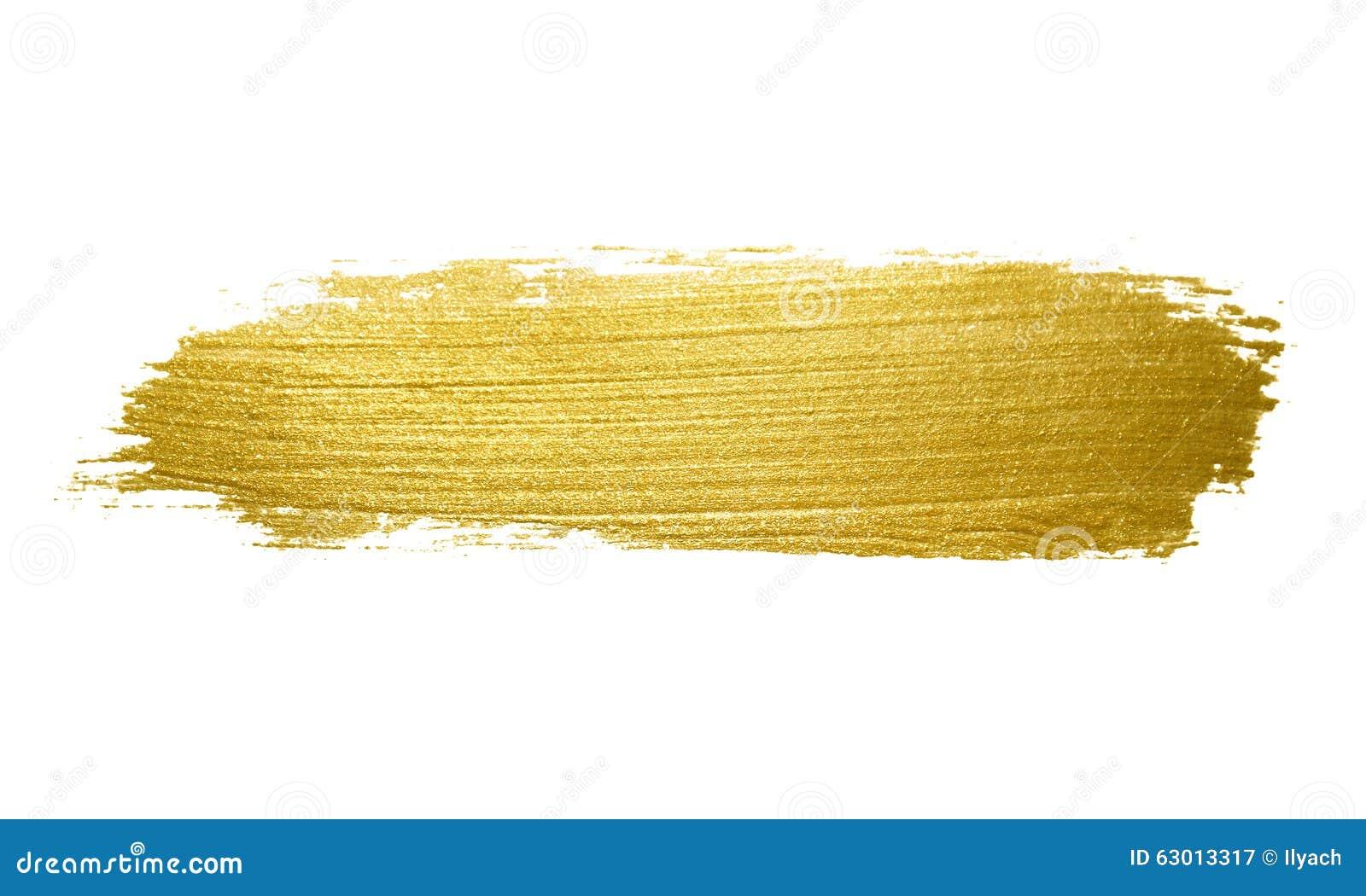 Movimiento de la brocha del oro