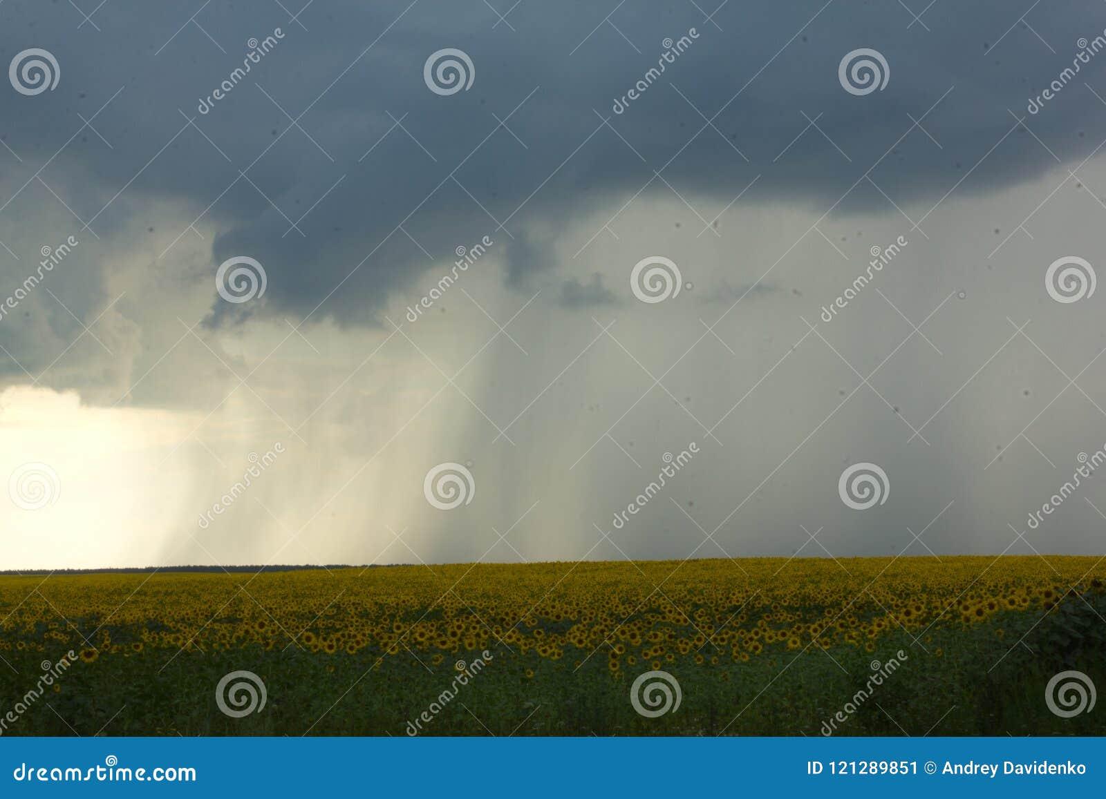 Movimiento De Las Nubes De Lluvia Antes De La Lluvia Y Del Trueno