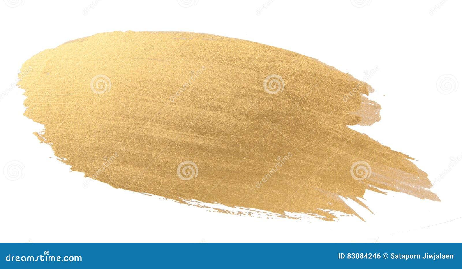 Movimiento del cepillo de la textura de la acuarela del oro