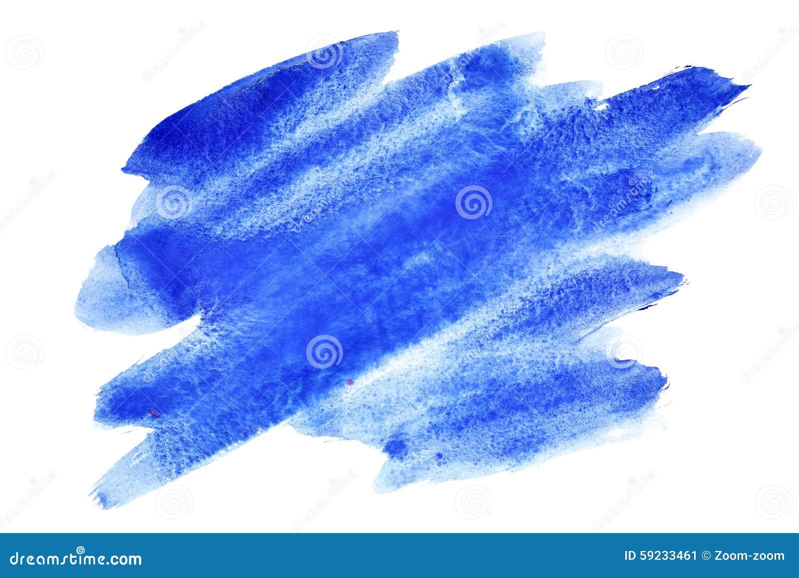 Download Movimientos Azules Expresivos Del Cepillo De La Acuarela Stock de ilustración - Ilustración de extracto, tinta: 59233461
