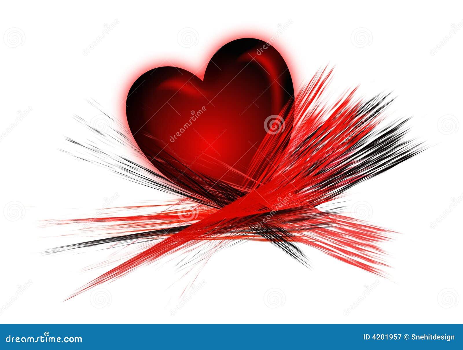 Movimientos Del Corazón Y Del Cepillo Stock De Ilustración