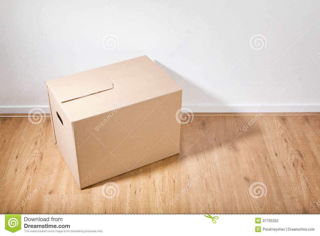 Moving box on the floor stock photography image 37705252 for On the floor