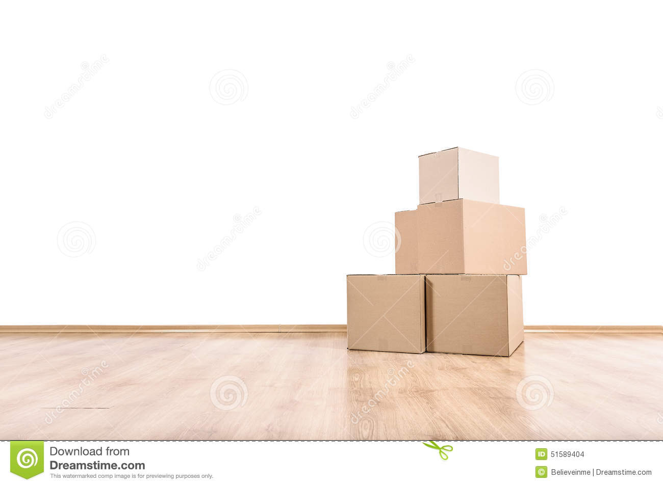 Moving boxes on the floor