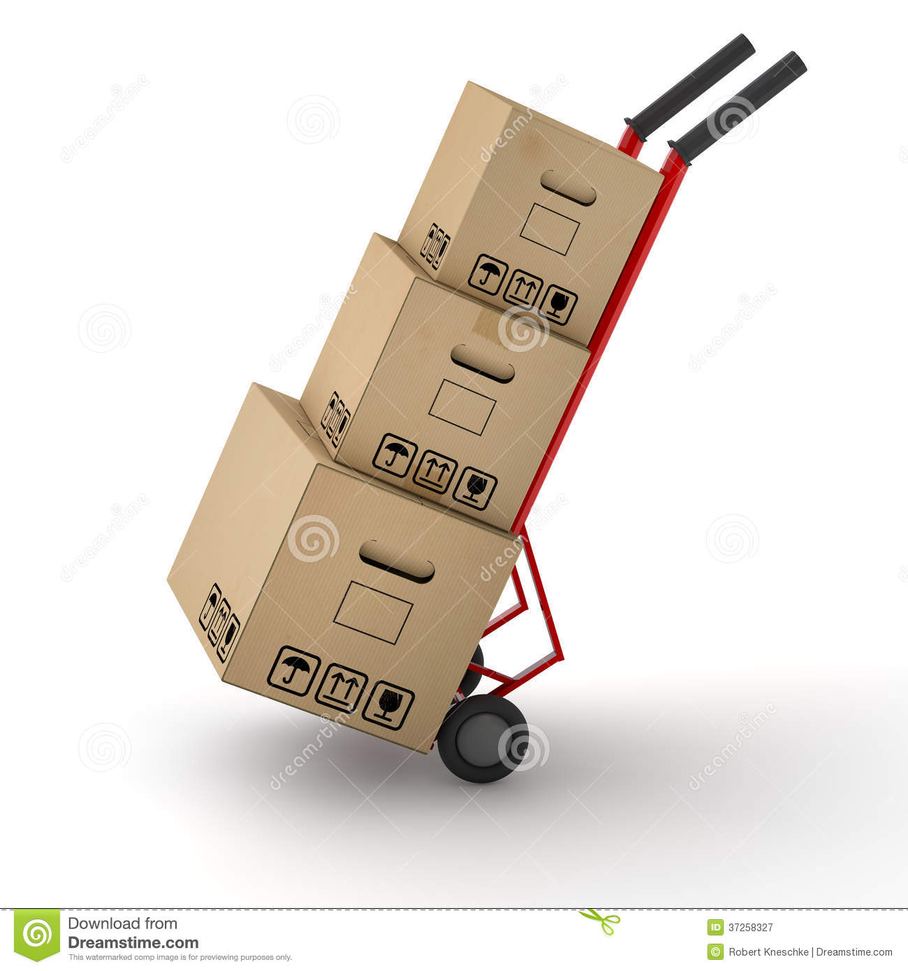 Moving Boxes With Fragile Stickers Stock Photography - Image: 11374412