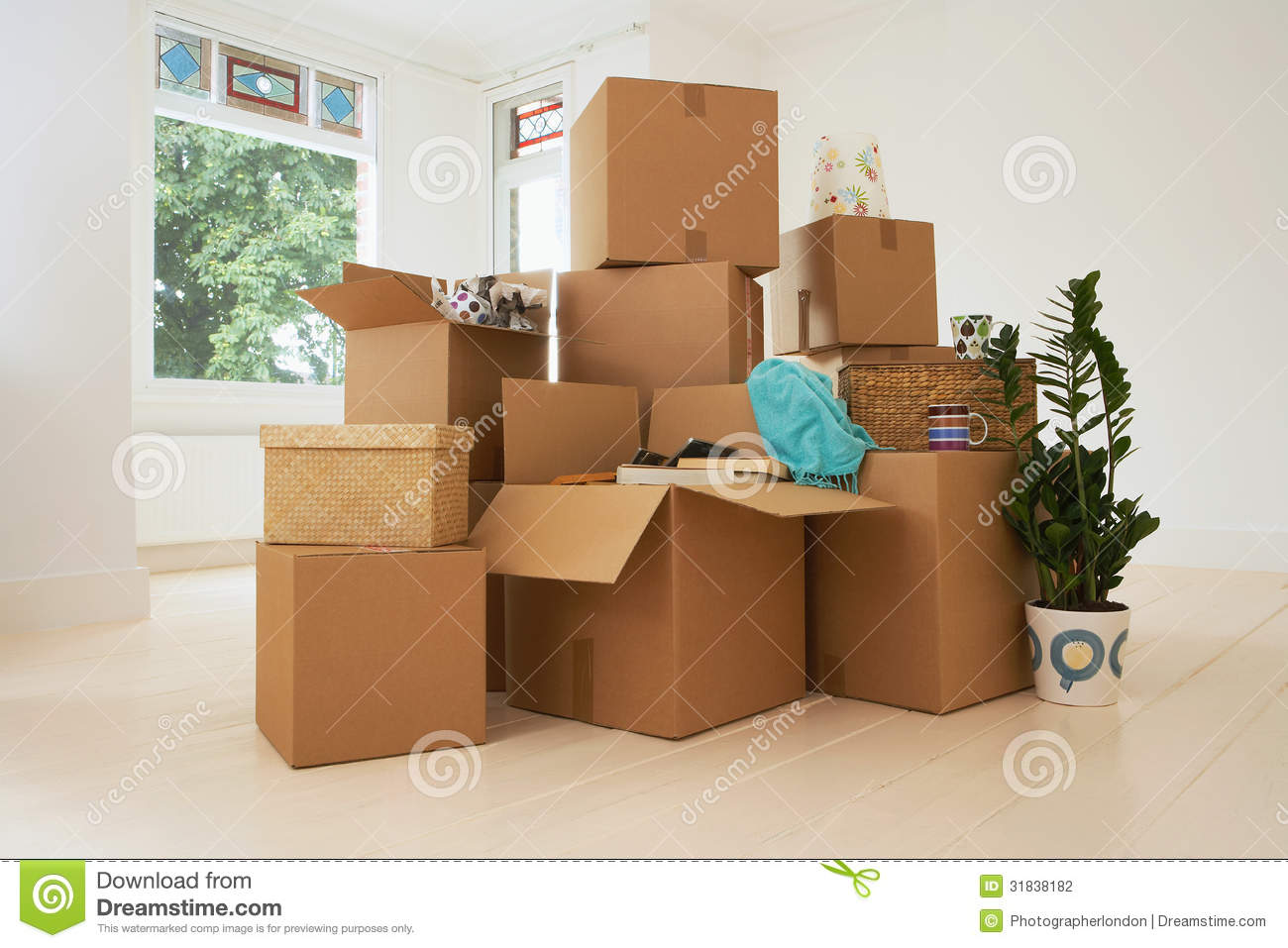 Moving Boxes In New House