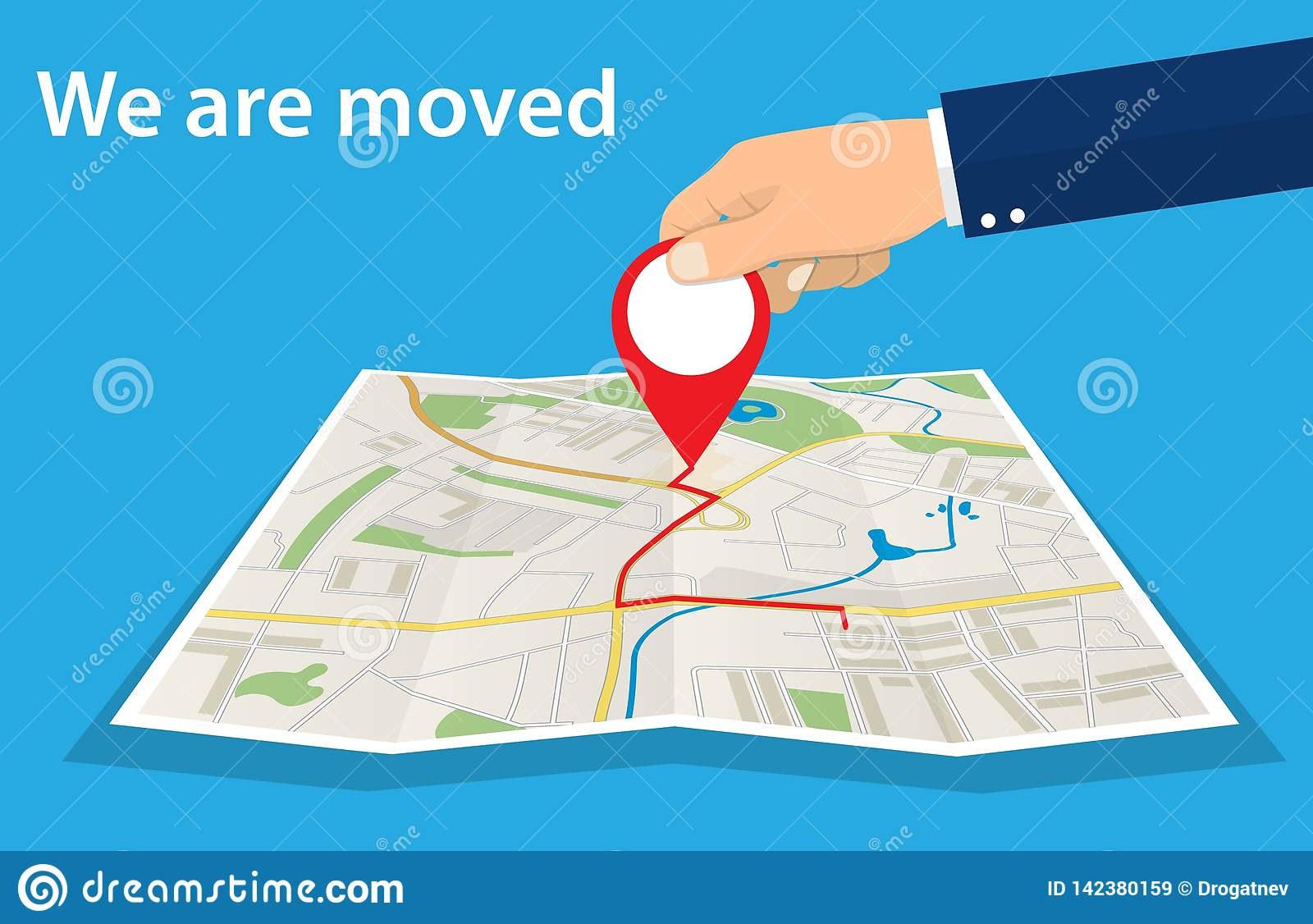 Moving concept. Changing address,