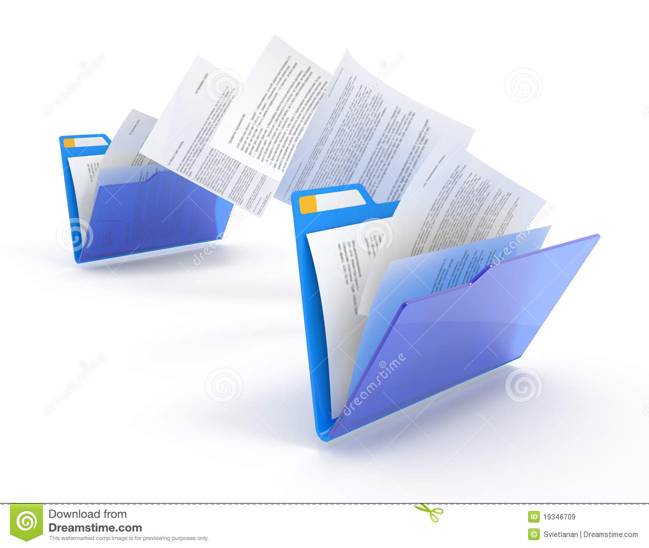 Document Moved: Moving Documents. Royalty Free Stock Images