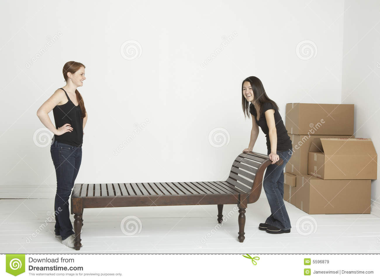 Moving The Heavy Furniture Royalty Free Stock Images Image 5596879